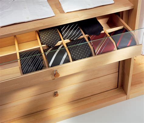 Tie Drawer by Luxury Solid Wood Wardrobe Interiors Bedroom Furniture