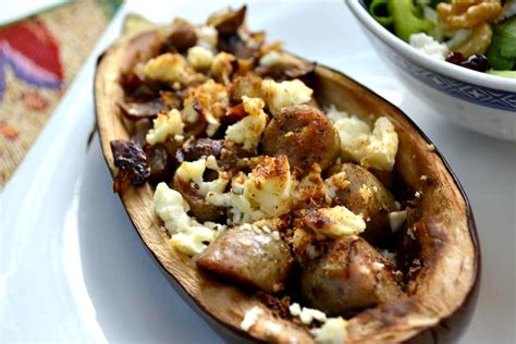 stuffed eggplant vegetarian recipes eat be vegetarian stuffed eggplant the