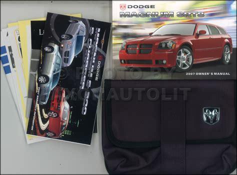 vehicle repair manual 2007 dodge magnum user handbook 2007 dodge magnum srt8 owners manual original oem owner guide book ebay