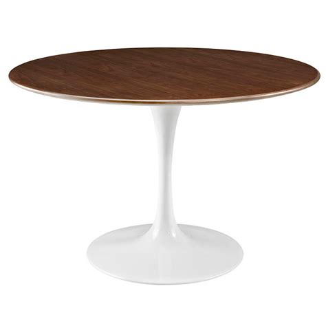 odyssey dining table odyssey 47 quot metal walnut dining table eurway
