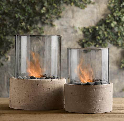 restoration hardware fire table laguna concrete ventless fire column fire tables