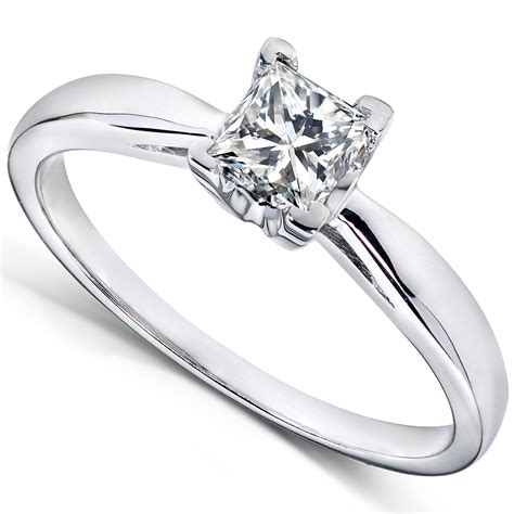 me princess cut solitaire engagement ring