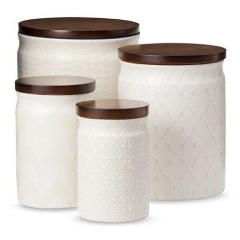 cream kitchen canisters threshold canister with wood lid cream what do you think