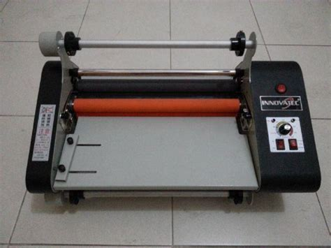 Alat Press Plastik Laminating jual mesin laminasi roll high press standard 65cm