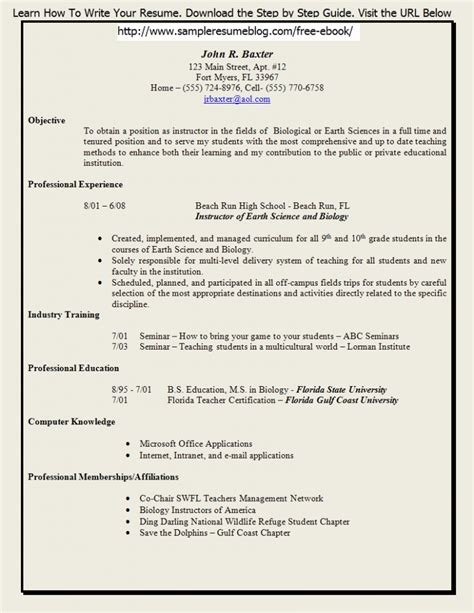 resume format for lecturer resume template 2017 resume builder