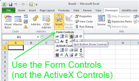 format control buttons excel 2007 how to use spin buttons in excel 2010 interactive charts