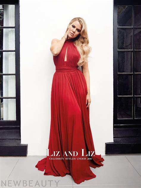 Khloe Kardashian Red Chiffon Celebrity Prom Dress New Beauty