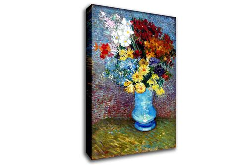 flowers in a blue vase by gogh classic canvas