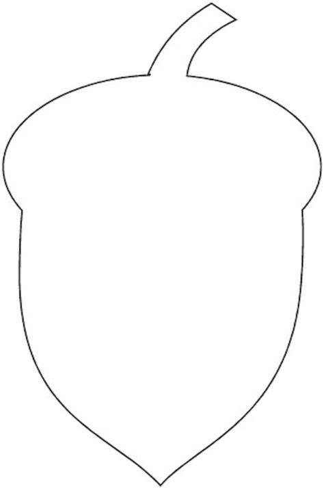 acorn template crayon acorn