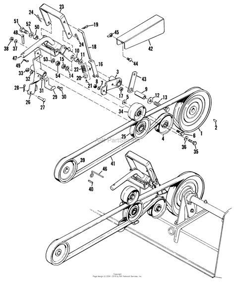 simplicity belt diagram simplicity 990688 38 quot lawn revitalizer parts diagram for