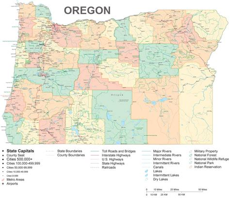 a map of oregon large and detailed map of oregon from the pcl map