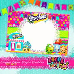 Digital Invitations Free Templates by Shopkins Blank Digital Invitation Printable By Cocoaparty