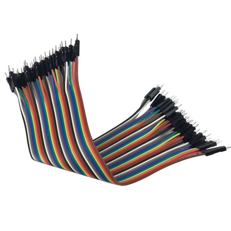 Jumper To 40 Pin 20 Cm 20cm to solderless jumper breadboard wires 10 wires electronics co arduino