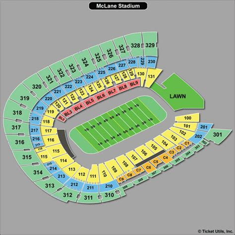 mclane stadium seating chart baylor football tickets 2018 baylor bears tickets