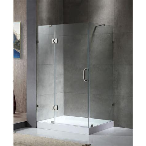 Corner Shower Doors Sterling Intrigue 27 9 16 In X 72 In Neo Angle Shower Door In Bronze With Handle Sp2275a