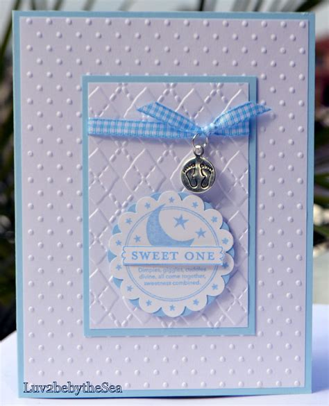 Baby Handmade - handmade stin up sweet one card for baby boy w