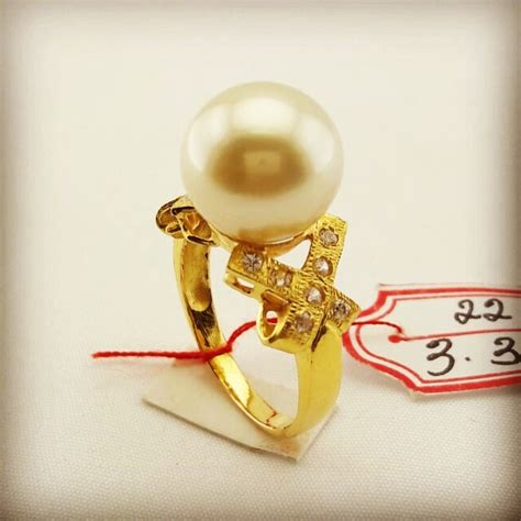 Cincin Mutiara Lombok Perhiasan Accessories 3 handmade gold ring with south sea pearl cez 034 harga mutiara lombok perhiasan toko emas