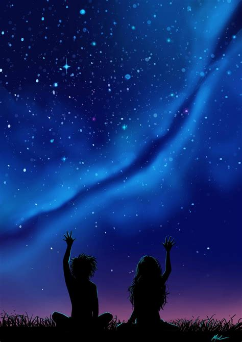 Pretty Wall Murals touching the stars by myed89 on deviantart