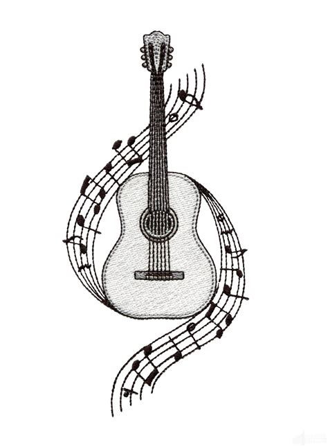 guitar tattoo designs art guitar embroidery design embroidery
