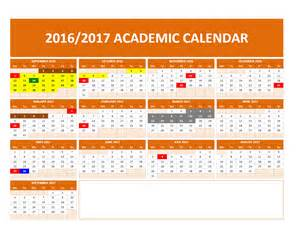School Calendar Template by 2017 2018 And 2016 2017 School Calendar Templates Excel