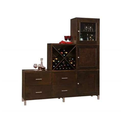 Spirits Cabinet by Personal Storage Cabinet Espresso By Howard Miller