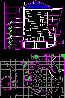 guggenheim museum  york city dwg section  autocad