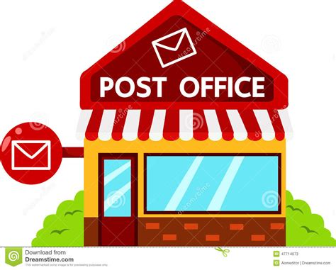 Where To Use Post Office Gift Card - illustrator of post office buildings stock vector image 47714673
