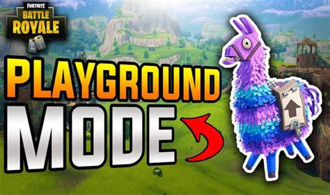 fortnite playground mode delayed patch notes