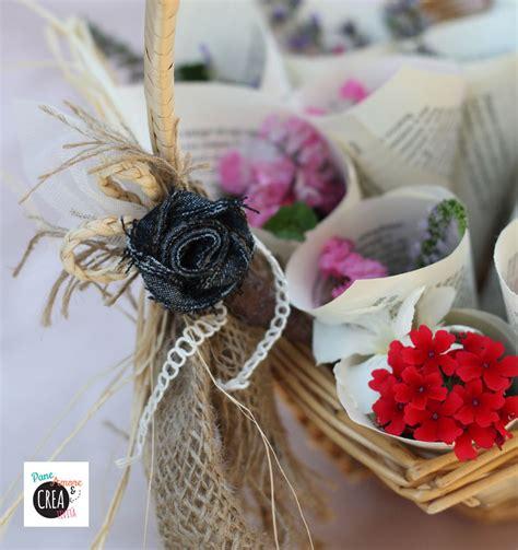 cesto porta coni di riso matrimonio fai da te niente riso ma coni di fiori