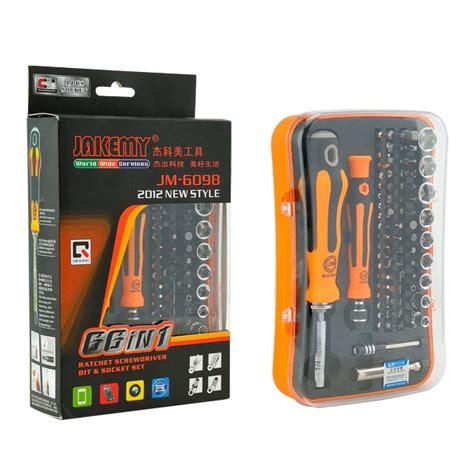 Jakemy 66 In 1 Profesional Screwdriver Set Jm6098 T0210 2 jakemy 66 in 1 profesional screwdriver set jm 6098 jakartanotebook