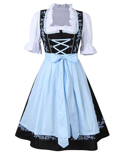 traditional german s clothing 3pcs womens traditional bavarian german classic dirndl