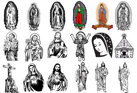imagenes vectorizadas libres pack vectores religiosos sublimacion corte vinil 120