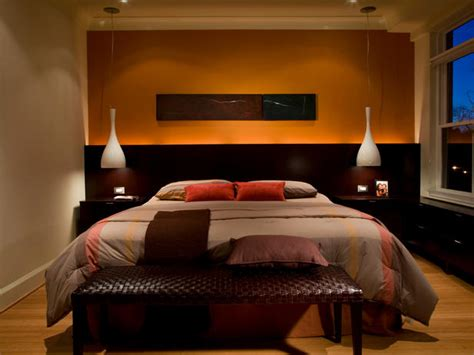 orange and brown bedroom modern orange and chocolate brown bedroom hgtv