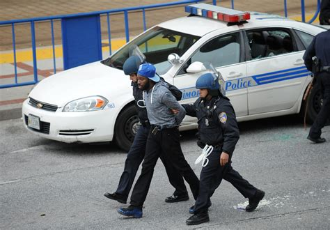 Arrest Records Baltimore Baltimore Arrest 35 6 Officers Injured In Protest Baltimore Sun