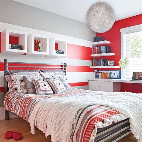 Red Bedrooms 171 Color Zoning 187 En Rouge Gris Et Blanc Chambre