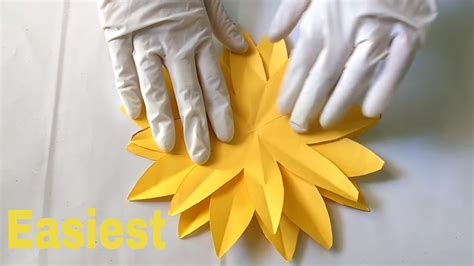 How To Make Sunflower With Paper - how to make a paper sunflower easiest method