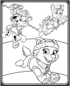 Of everest marshall and chase coloring page categories paw patrol