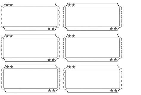 ticket layout template printable raffle tickets blank search baby