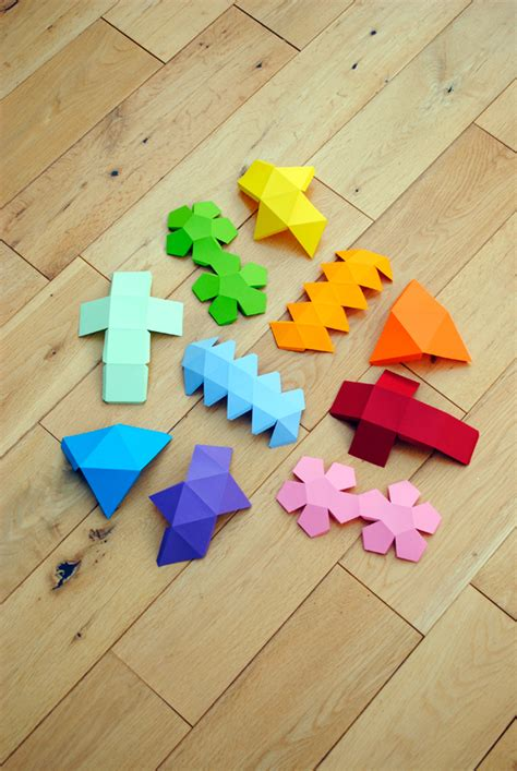 Paper Folding Geometric Shapes - i mathematics platonic solids garland minieco