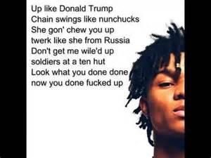 Donald Trump Song by Rae Sremmurd Up Like Trump Lyrics Youtube