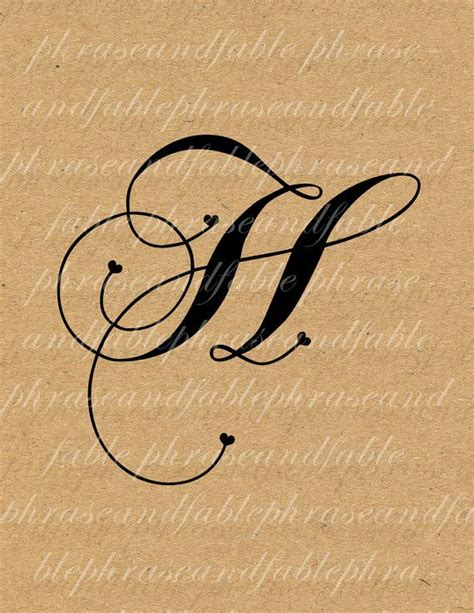 letter h typography letter h hearts 279 digital alphabet initial name glyph char