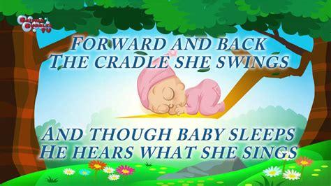 letra cancion de cuna rock a bye baby duermete ni 241 o en el arbol cancion
