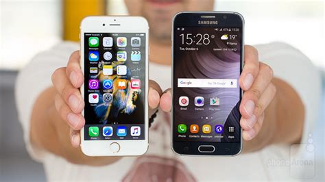 apple iphone 6s vs samsung galaxy s6 phonearena