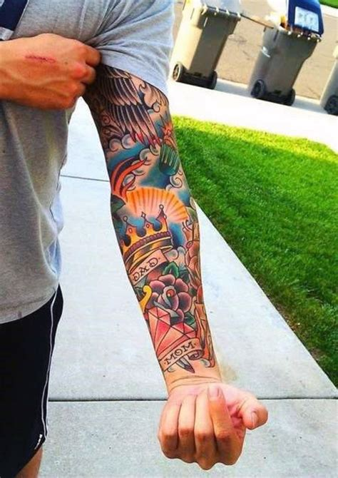 sailor jerry sleeve tattoo designs 100 forearm sleeve designs for manly ink ideas