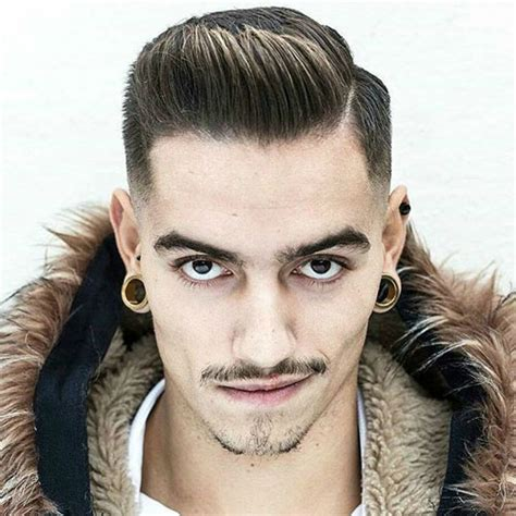 spiked combover 33 hairstyles for men with straight hair low fade