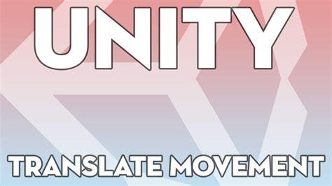 unity tutorial enemy movement unity tutorials beginner 07 translate movement