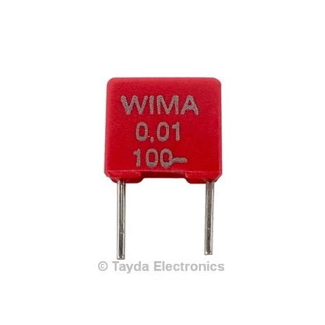 polyester box type capacitor 100nf 0 1uf 100v 5 polyester box type capacitor wima mks2