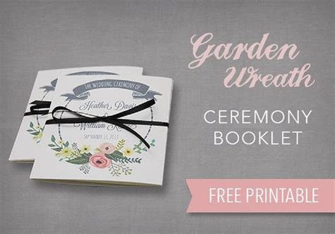 wedding booklet template free diy tutorial free printable ceremony booklet boho
