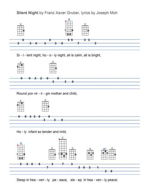 tutorial ukulele chords silent night ukulele tabs pinterest silent night