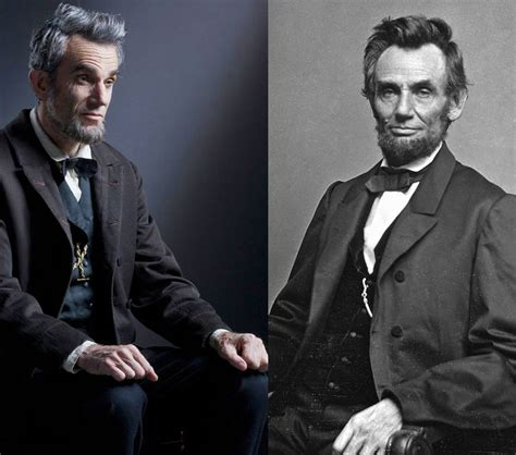 lincoln with daniel day lewis daniel day lewis as abraham lincoln side by side photos